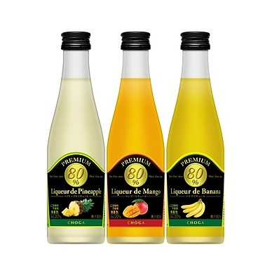 CHOGASUN of Real Fruits is The True Liqueur.  Challenging the world record with coecentration of Mango & Banana juice.